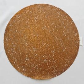 Pvc prostíraní metalické kruh 18 - mědená