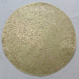 Pvc prostíraní metalické kruh 18 - zlatá