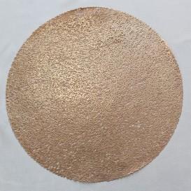 Pvc prestieranie metalické kruh 18 -pastelová ružová