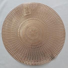 Pvc prostíraní metalické kruh 3 - pastelová rúžová