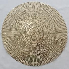 Pvc prostíraní metalické kruh 3 - zlatá
