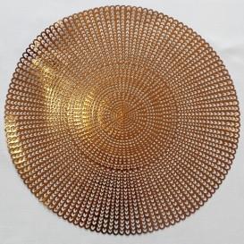 Pvc prostíraní metalické kruh 3 - mědená