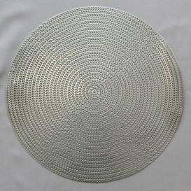 Pvc prostíraní metalické kruh 12 - stříbrná