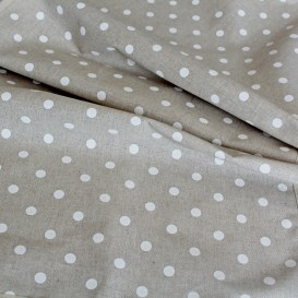 Bavlnená ubrus béžový s bílymi tečkami 120x140cm