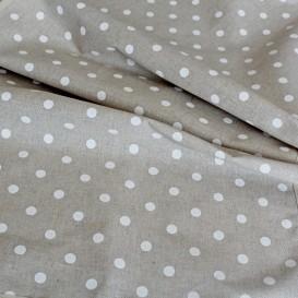 Bavlnený obrus béžový s bielymi bodkami 120x140cm