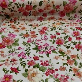 PVC obrus drobné kvety ružové  š.140cm
