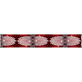 Ozdobné pásy na stenu - MP0304 - Biely klasický vzor na červenom pozadí