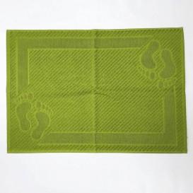Bavlnená predložka do koupelny 50x70cm zelená