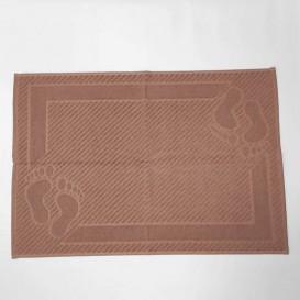 Bavlnená predložka do kúpeľne 50x70cm hnedá