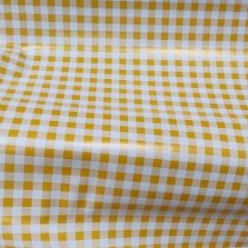 PVC ubrus žluto-bíle káro š.140cm