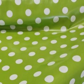 PVC ubrus zelený s tečkami š.140cm