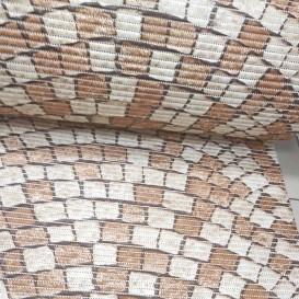 Penová predložka Hnedá - zámková dlažba 4672 šírka 0,65m