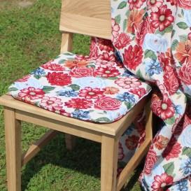 Podsedák na stoličku Oranžové kvety