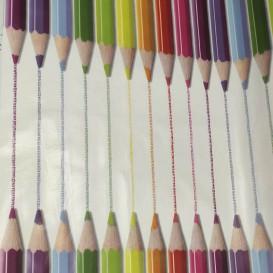 PVC obrus detský -farbičky 4871  š.140cm