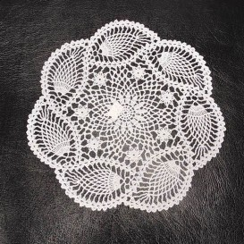 Obrus vinylový krajka kruh 30cm