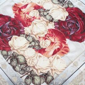 Gobelínový  ubrus Tmavé barokové květy  40x100cm