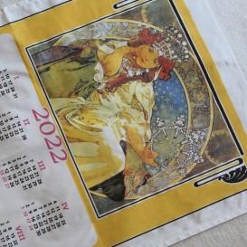 Textilný kalendár - Alfonz Mucha