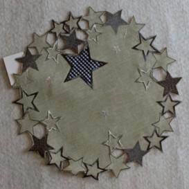 Vianočný vyšívaný obrus 4862 kruh 30cm