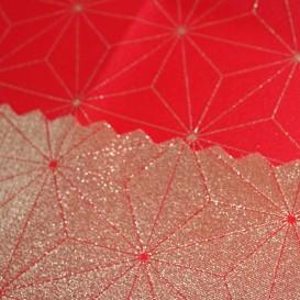 Obojstranný teflónový obrus Diamant červeno/zlatý