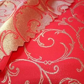 Obojstranný teflónový obrus Ornament červeno/zlatý