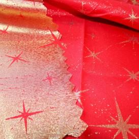 Obojstranný teflónový obrus Veľké Hviezdy červeno/zlatý