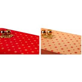 Obojstranný teflónový obrus Vločka červeno/zlatý