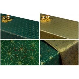 Obojstranný teflónový obrus Diamant zeleno/zlatý