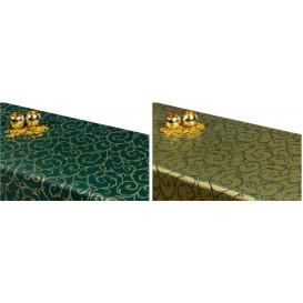 Obojstranný teflónový obrus Ornament zeleno/zlatý