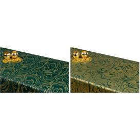 Obojstranný teflónový obrus Špirála zeleno/zlatý
