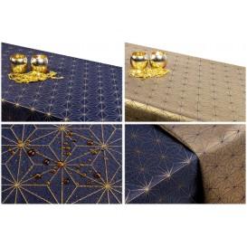 Obojstranný teflónový obrus Ornament modro/zlatý