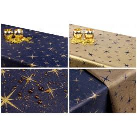 Obojstranný teflónový obrus Hviezdy veľké modro/zlatý