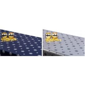Obojstranný teflónový obrus Vločka modro/strieborný