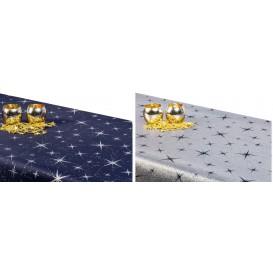Obojstranný teflónový obrus Hviezdy veľké modro/strieborný