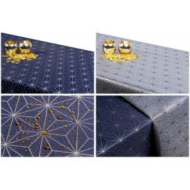 Obojstranný teflónový obrus Diamant  modro/strieborný