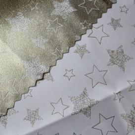 Obojstranný teflónový obrus Hviezdy 2 bielo/zlatý