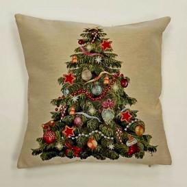 Gobelínová obliečka Vianočný stromček 2  45x45cm