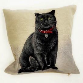 Gobelínová obliečka čierna mačka45x45cm