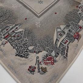 Gobelínový obrus Sivé Vianoce 100x100cm