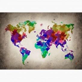 Fototapeta - FT6007 - Barevná mapa světa