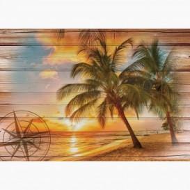Fototapeta - FT6011 - Západ slnka na pláži