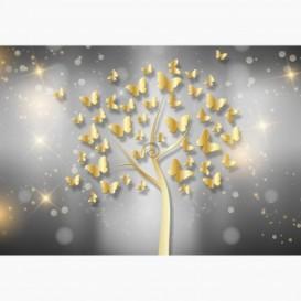 Fototapeta - FT6029 - Zlatý strom motýľov