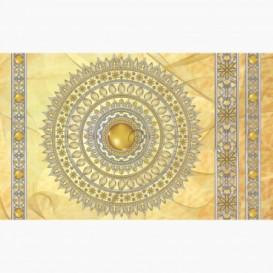 Fototapeta - FT6058 - Zlatá mandala - žlutý podklad