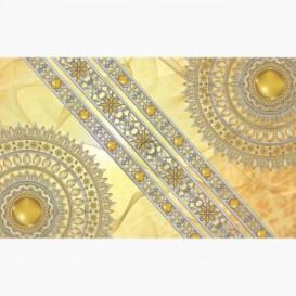 Fototapeta - FT6059 - Zlatá mandala - žltý podklad