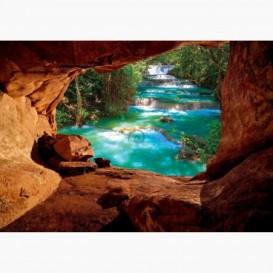 Fototapeta - FT6111 - Výhľad z jaskyne na rieku