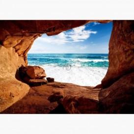 Fototapeta - FT6112 - Výhľad z jaskyne na oceán