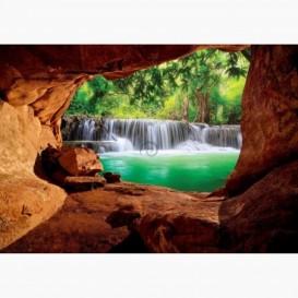Fototapeta - FT6113 - Výhľad z jaskyne na les