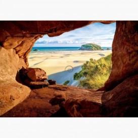 Fototapeta - FT6114 - Výhľad z jaskyne na pláž