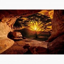 Fototapeta - FT6115 - Výhľad z jaskyne na savanu