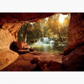 Fototapeta - FT6116 - Výhľad z jaskyne na les