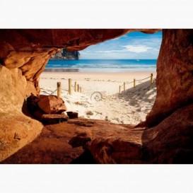 Fototapeta - FT6118 - Výhľad z jaskyne na piesočnú pláž